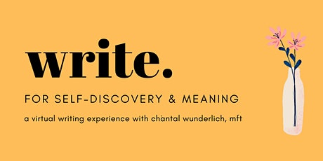 Write for Self-Discovery & Meaning tickets