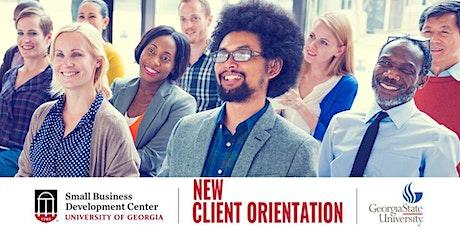 New Client Orientation tickets
