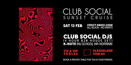 Glass Island - Club Social Sunset Cruise - Saturday 13th February tickets