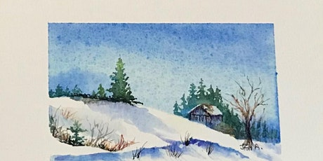 10a-12 - How to Paint Snow in Watercolor - Jean Anderson Zoom Class tickets