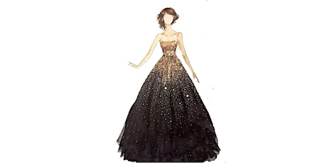 60min Fashion Sketching  Lesson -  Off Shoulder Ballgown  @5PM (Ages 7+) tickets