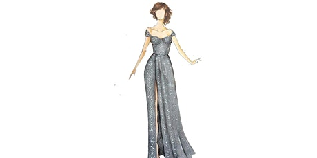 60min Fashion Sketching  Lesson -  Sweetheart Evening Gown  @5PM (Ages 7+) tickets