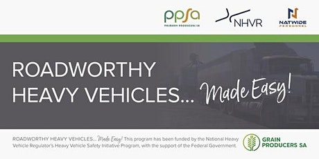 Roadworthy Heavy Vehicles... Made Easy! - Wallaroo tickets