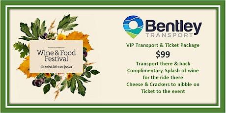 N.C. Wine & Foods * VIP* Package.  Bus Transport, Entry Ticket & WINE!!!! tickets