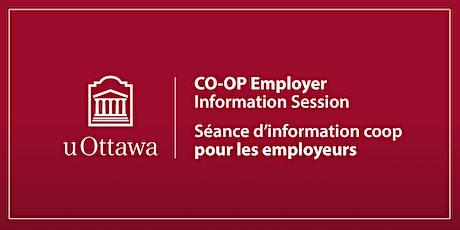 Séance d'info pour employeurs coop uOttawa (ouvert à tous) en français tickets