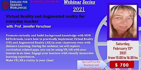 Virtual Reality and Augmented Reality for everyday Teacher tickets