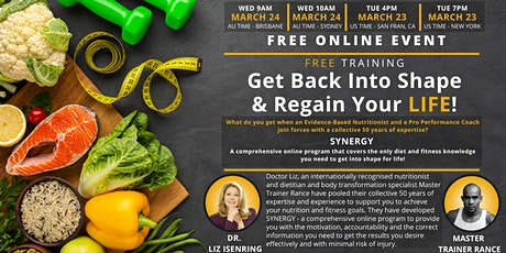 Get Back Into Shape  and Regain Your Life tickets