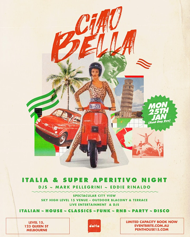 CIAO BELLA ITALIA & SUPER APERITIVO NIGHT image