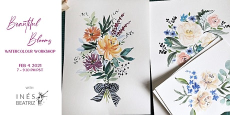 Beautiful Blooms Watercolour Workshop tickets