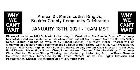 Dr. Martin Luther King, Jr. Boulder Community Celebration - Virtual Event tickets