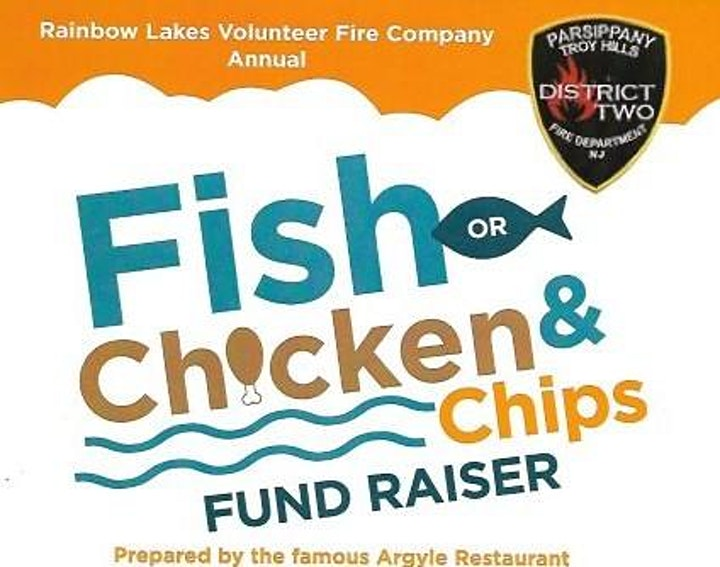 Rainbow Lakes Volunteer Fire Company  Annual Fish (Chicken) and Chips image
