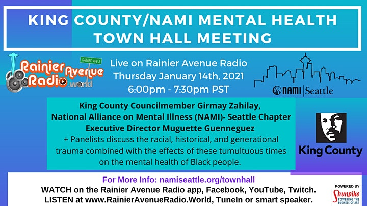 NAMI Seattle and King County Black Mental Health Town Hall image
