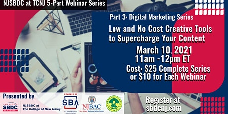 Part 3  - Digital Marketing: Low & No Cost Tools to Supercharge Content tickets