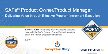 SAFe Product Owner/Product Manager (POPM) - Curso Online en Español boletos