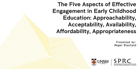 The Five Aspects of Effective Engagement in Early Childhood Education tickets