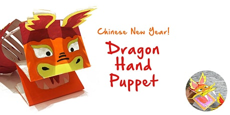 45min Chinese New Years Paper Dragon Hand Puppet @2PM  (Ages 5+) tickets