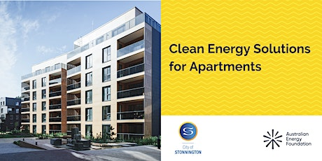 Clean Energy Solutions for Apartments - Webinar - City of Stonnington tickets