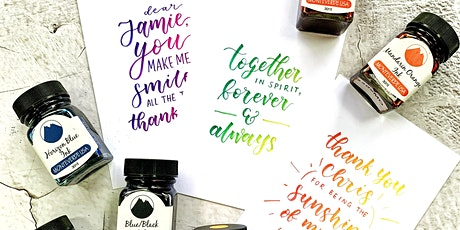 Ombré Brush Lettering (Valentine Special) Workshop tickets