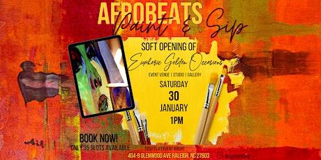 Afrobeats Paint & Sip_ tickets