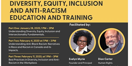 Equity, Diversity and Anti Racism  Training tickets