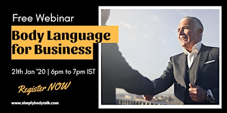 Free Webinar- Body Language for Business tickets