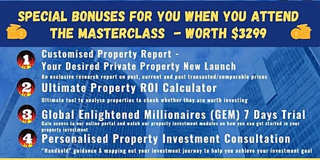 FREE New 2021 Physical Property Investing MASTERCLASS by Dr Patrick Liew!] tickets