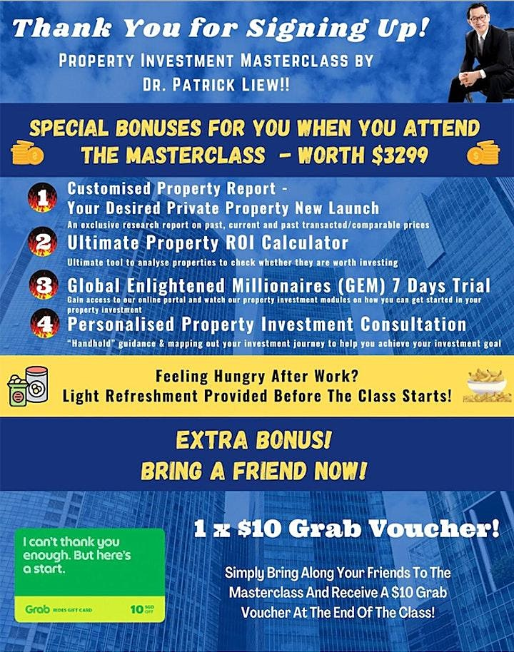 FREE New 2021 Physical Property Investing MASTERCLASS by Dr Patrick Liew image