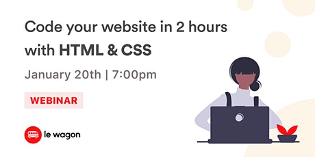[Webinar] Learn to code your first website with HTML & CSS! tickets
