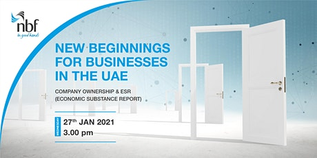 NEW BEGINNINGS FOR BUSINESSES IN THE UAE tickets