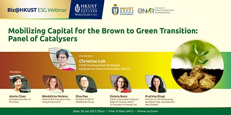 Biz@HKUST ESG Webinar: Mobilizing Capital for the Brown to Green Transition bilhetes