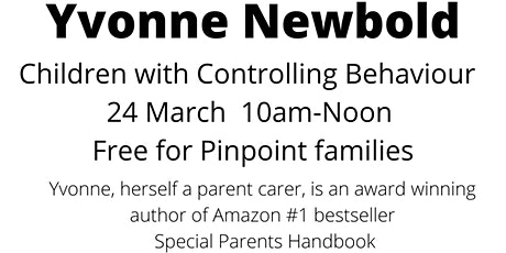 Pears Webinar - Yvonne Newbold - Children with controlling behaviour tickets