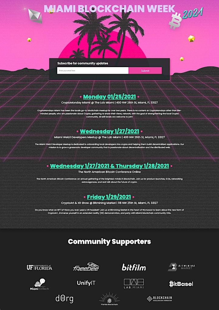 Miami Blockchain Week 2021 - CryptoArt & XR Showcase image