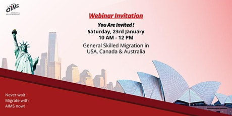 Australia, Canada & USA - General Skilled Migration Webinar tickets