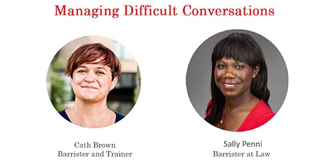 Cath Brown - Managing difficult conversations, tickets