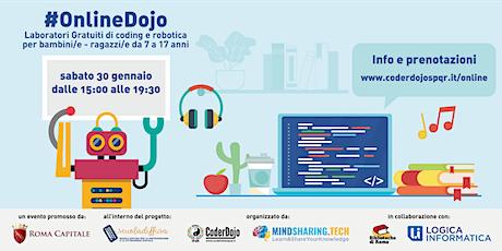#OnlineDojo 30/01/2021 - Scuola Diffusa by CoderDojo Roma SPQR biglietti