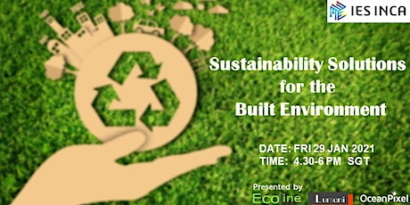 Sustainability Solutions for the Built Environment tickets