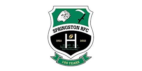 Springston RFC Centenary tickets