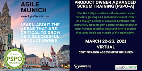 Agile Munich   Certified Training   Product Owner - Advanced (PSPO-A) tickets