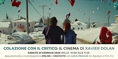 Colazione con il critico: il cinema di Xavier Dolan biglietti