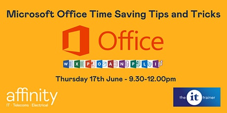 Microsoft Office Time Saving Tips and Tricks Tickets