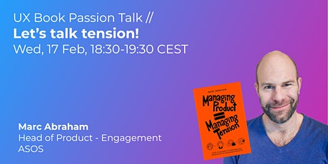 Let's talk tension! // UX Book Passion Talk tickets