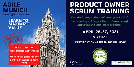 Agile Munich | Certified Training | Professional Scrum Product Owner (PSPO) tickets