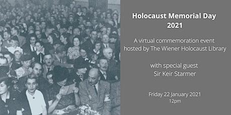 Holocaust Memorial Day 2021 tickets