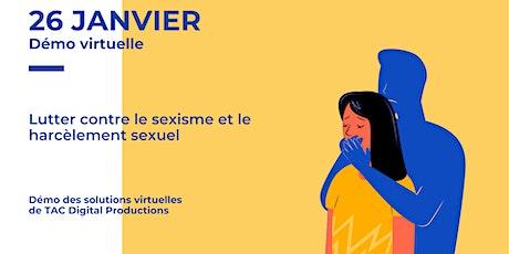 Atelier virtuel - Lutter contre le sexisme et le harcèlement sexuel billets
