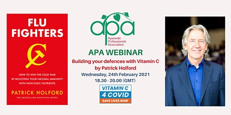 APA WEBINAR - Building your defences  with Vitamin C by Patrick Holford tickets