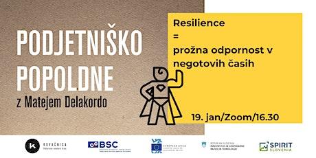Resilience = prožna odpornost v negotovih časih tickets