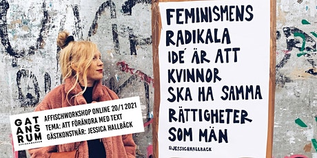 AFFISCHWORKSHOP ONLINE 20/1 MED GATANS RUM & JESSICA HALLBÄCK tickets