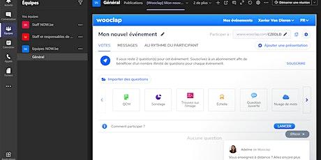 Maîtriser les outils Teams/Wooclap pour animer à distance -25.02.2021 billets