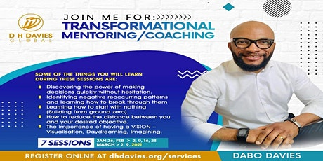 TRANSFORMATIONAL MENTORING/COACHING tickets