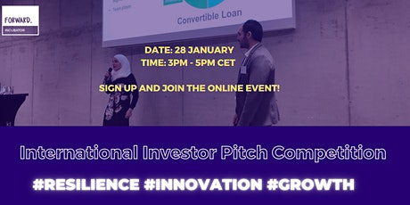 Forward Incubator: International Investor Pitch Competition entradas